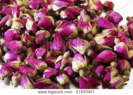 Dried Rose Flower Buds Close-up