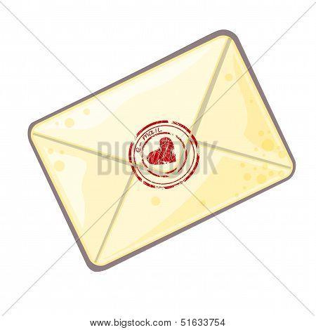 Vector cartoon letter
