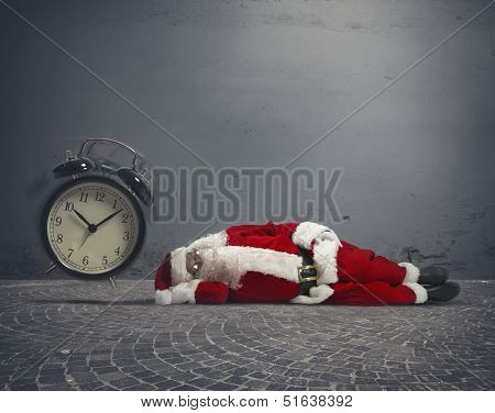 Santa Claus Asleep