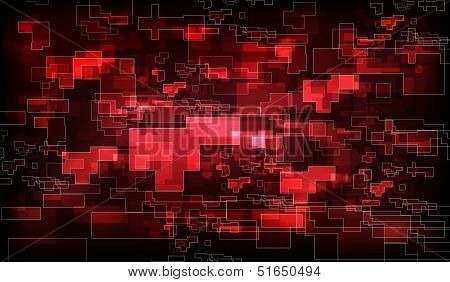 Abstract Red Polygon Background