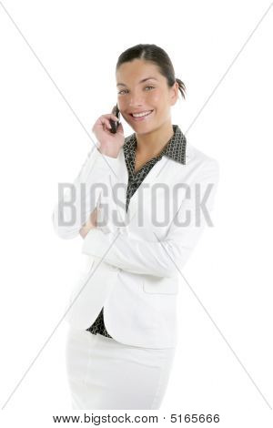 Beautiful Businesswoman Talking Mobile Phone