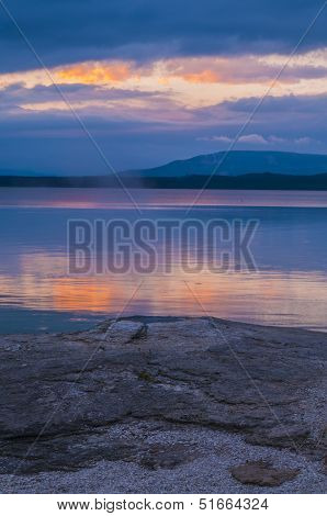 Beautiful Morning Near Fishing Cone Hot Spring Yellowstone