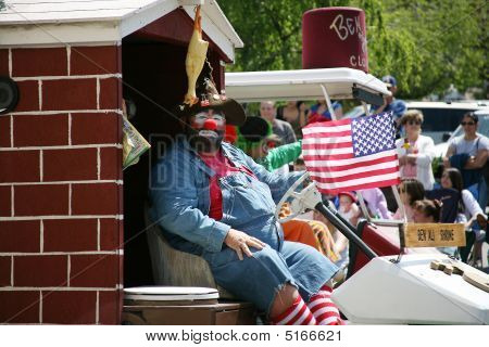 Shriner Clown In Boatnik Parade