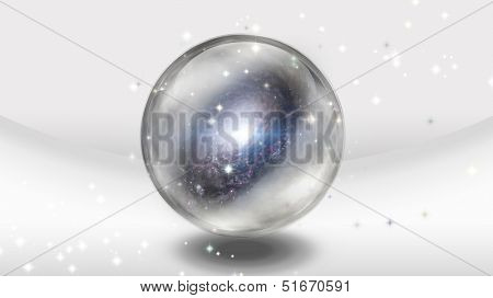 Crystal Sphere with Galaxy