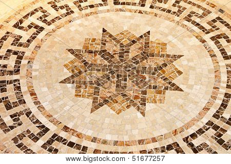 Floor Star Mosaic