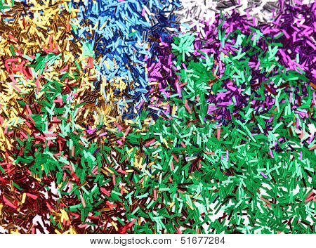 Colourful ticker tape background.