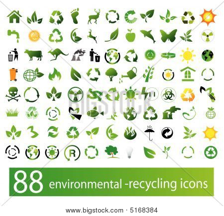 Vector Set Umwelt / recycling-icons