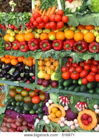 Colorful Vegetables And Fruits