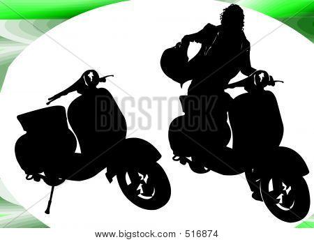 Motor Man Silhouette