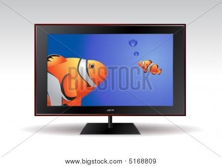 Flat Screen Tv With Fishes