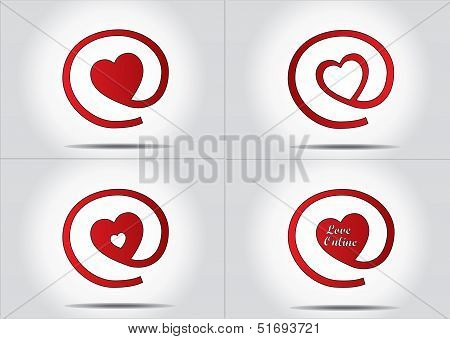 Online Dating Or Finding Love Concept Icon Set - Vector Design Illustration Art Collection
