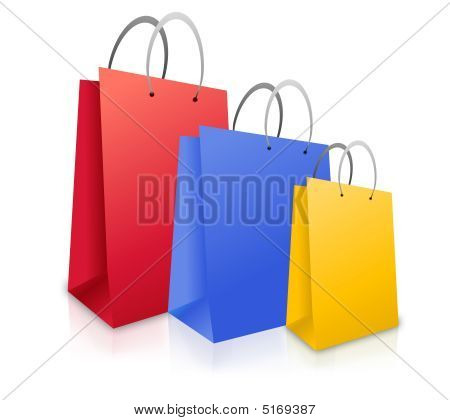Three Colorful Shopping Bags