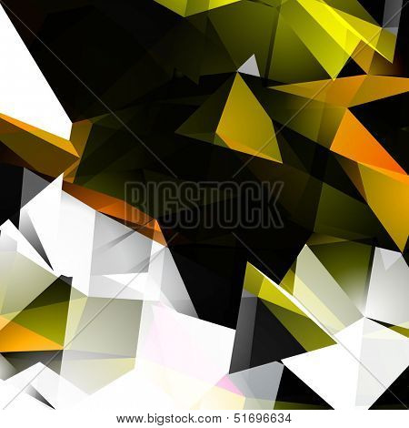 Abstract Autumn Colors Triangular Background