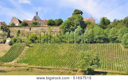 French Village In Burgundy