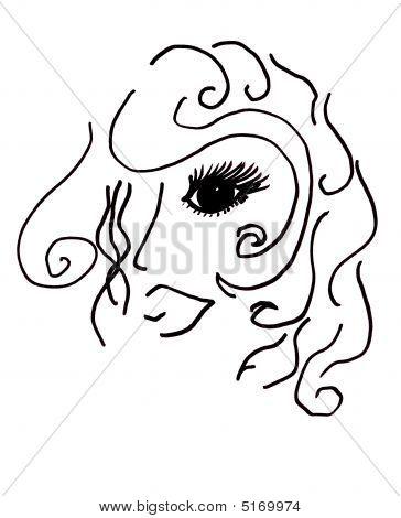 schöne Haar- und Make-up