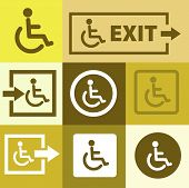 Editable icon of handicap or wheelchair person
