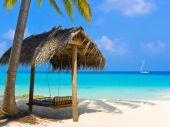 foto of tropical island  - Swing on a tropical beach  - JPG