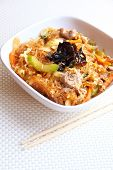 pic of glass noodles  - Spicy glass noodles with beef vegetables and eggs - JPG