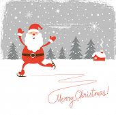 picture of merry chrismas  - Santa skate - JPG