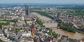 foto of frankfurt am main  - Aerial view of the city of Frankfurt am Main in Germany  - JPG