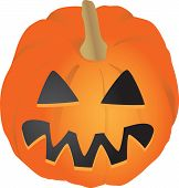 stock photo of jack-o-laterns-jack-o-latern  - Simple orange Jack - JPG