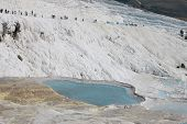 stock photo of natural phenomena  - The Pamukkale natural lakes in Hierapolis Turkey - JPG
