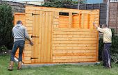 pic of wooden shack  - Building a wooden shed and fixing the side panels to the base - JPG
