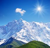 stock photo of greater  - Mountain landscape with snow - JPG