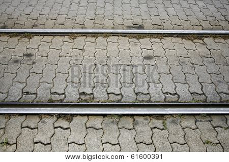 Tram Tracks Railroad