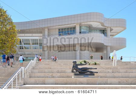 LOS ANGELES, CA - AUGUST 19, 2013: Architectural details of The Getty Center. The Center is a prominent tourist attraction point in Los Angeles, CA