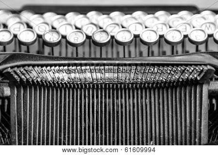 Close-up Of Old Typewriter
