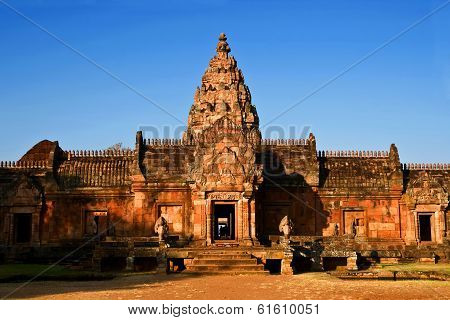 Phanom Rung Castle Historical Park,ancient Temple And Monument In Thailand