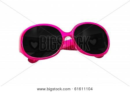 Fashion Pink Glasses Isolated On White