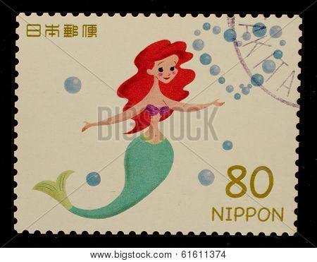 JAPAN - CIRCA 2012: A stamp printed in Japan shows Ariel, circa 2012