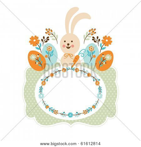 Easter bunny, easter card