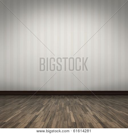 An empty room background for your own content