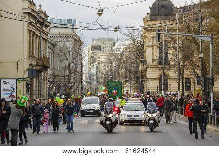 St. Patrick's Day Parade, Bucharest, Romania