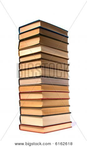 Books Stack Isolated On White