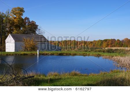 Fall Foliage Barn and Pond