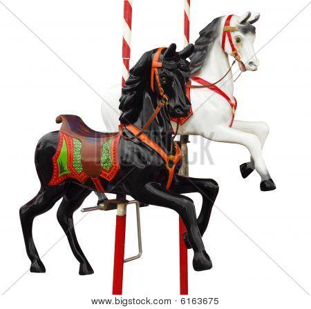 Two Merry-go-round Horses