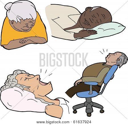 Mature People Sleeping