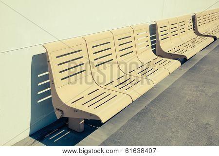Empty Seats On Ferry Boat