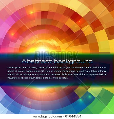 Colorful shining abstract sun vector background