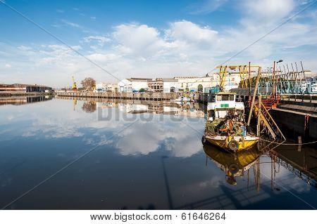 Boats In La Boca, Buenos Aires, Argentina
