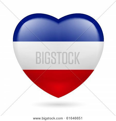 Heart icon of Yugoslavia
