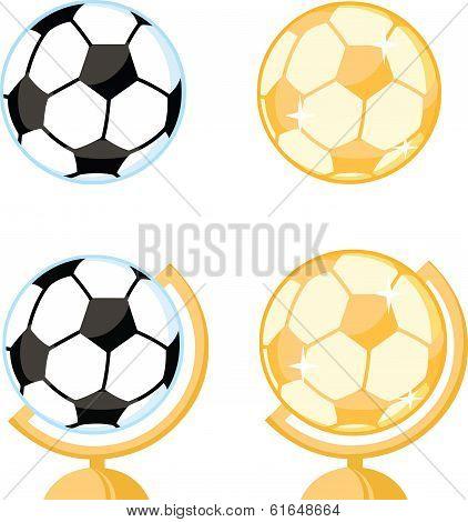 Soccer Ball Desk Globe Collection Set