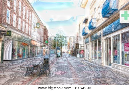 english town street-scape