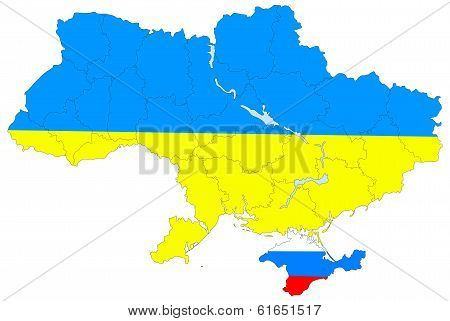 Map Of Ukraine Without The Crimea