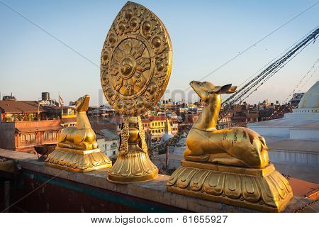 Golden Deers And The Wheel Of The Dharma