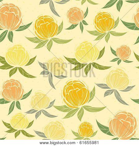 Spring wildflowers seamless pattern